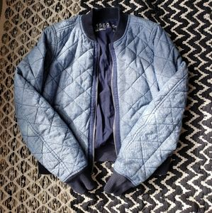 GAP Cotton Quilted Bomber Jacket